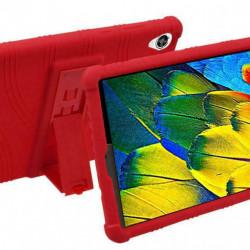 Husa compatibila cu tableta LENOVO Tab M8 FHD 8 inch TPU cu stand - Rosie