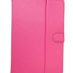 Husa universala pentru tableta de 10 inch, Book Cover Roz Fuchsia