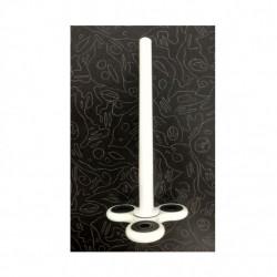 Pix Fidget Spinner Pen, triunghiular, pasta neagra, 16 cm, Alb