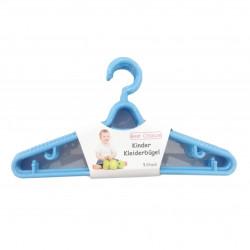 Set 5 bucati, umerase din plastic pentru hainute de copii, Albastre