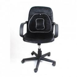 Suport lombar pentru scaun, corector ortopedic cu zona de masaj, 40cm , Negru