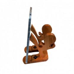 Suport pentru tableta, lemn masiv de fag, 2 pozitii, model tip Ninja