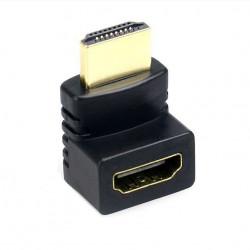 Adaptor HDMI to HDMI, cu unghi de 270 grade, Negru