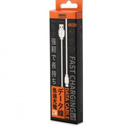 Cablu de incarcare USB to Lightning, Remax RC-134i, 100 cm, Alb