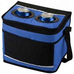 Geanta termica cu suport pentru bauturi, 24.5 x 19 cm, cu bretea, Albastra