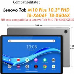 """Husa compatibila cu tableta Lenovo Tab M10 FHD Plus 10.3"""" TB-X606F/X TPU cu stand - Negru"""