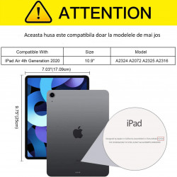 Husa tableta iPad Air 4 (2020), 10.9 TPU subtire, transparent