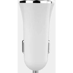 Incarcator auto - 5V 2400 mAh - cu 2 mufe USB - Alb