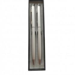 Set 2 Bucati : Stylus Pen Argintiu cu pix incorporat, universal