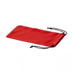 Set 4 bucati, saculet pentru cadouri, din material textil, prevazut cu snur, 18 x 9 cm, Rosu