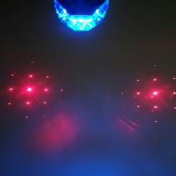 Stop spate pentru bicicleta, LASER, 5 LED-uri, 7 Functii, Albastru