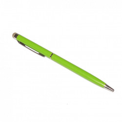 Stylus cu microfibra si pix incorporat, generatia 2, Verde