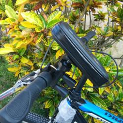 """Suport de telefon pentru Bicicleta, protectie la intemperii si praf, maxim 6.5"""""""