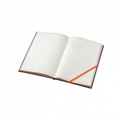 Agenda liniata dictando A5, 80 file, coperti cartonate, portocaliu
