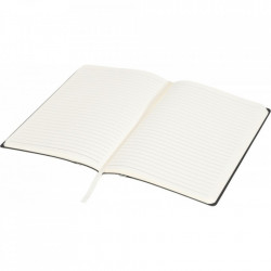 Agenda liniata dictando A5, 80 file, coperti din piele ecologica, Avery Memo, Alb Fildes