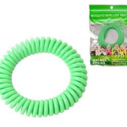 Bratara naturala anti tantari, 300 ore, elastica, verde