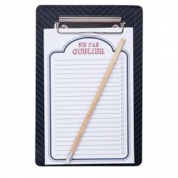 Lista de cumparaturi magnetica tip clipboard, model cu dungi, multicolor