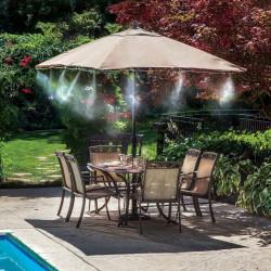 Sistemul de vaporizare a apei pentru terasa, se foloseste pe timp de vara pentru reducerea temperaturii, temperatura resimtida este redusa cu 10 pana la 15 grade in zilele toride.