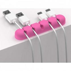 Suport cabluri, roz fuchsia