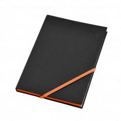 Agenda liniata dictando A6, 80 file, coperti cartonate, contur Portocaliu