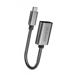 Cablu OTG USB to Micro USB, 17 cm, Dudao L15M, negru