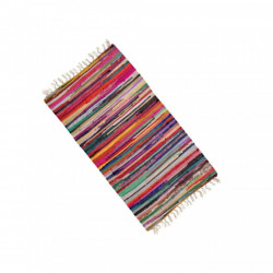 Covor traditional romanesc, lucrat manual, prevazut cu franjuri, 180x120 cm, Multicolor