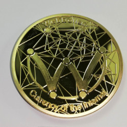 Moneda Suvenir WebDollar, diametru 40 mm, Aurie - Fara cutie