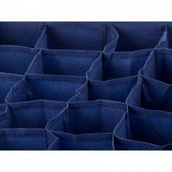 Organizator sosete si lenjerie intima cu 24 de compartimente, Albastru