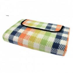 Patura pentru picnic tip geanta cu maner si scai, 175 x 135 cm, model in carouri