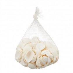 Scoici naturale pentru decor, diametru 3 cm, 200 grame, albe