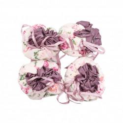 Set 4 papucei de protectie pentru scaune si mese, motiv floral