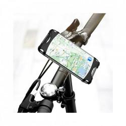 Suport de telefon pentru bicicleta, fixare pe ghidon, silicon, elastic, negru
