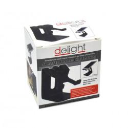 Suport pentru telefoane, Delight, metalic, model Omulet, Negru