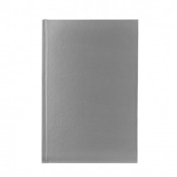 Agenda liniata dictando A5, 60 file, coperti cartonate, argintiu