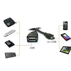 Cablu OTG cu Mini USB - Negru