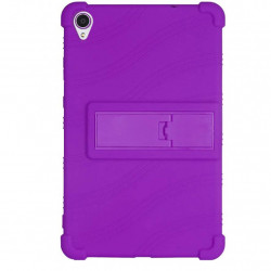 Husa compatibila cu tableta LENOVO Tab M8 FHD 8 inch TPU cu stand - Mov