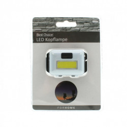 Lanterna frontala de cap cu baterii, usoara, 8 LED-uri, 3 moduri de iluminare, Alba