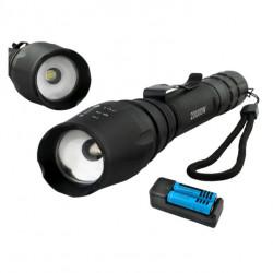 Lanterna Militara cu Zoom, 3 moduri de iluminat, LED Cree, 2000W, neagra