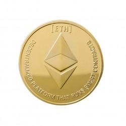 Moneda Suvenir Ethereum, diametru 40 mm, in cutie de plastic