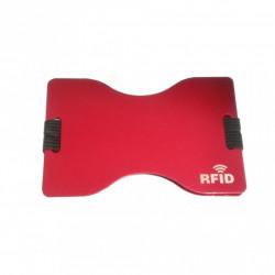 Protectie contactless RFID pentru protejarea cardurilor bancare, Metal, Visiniu