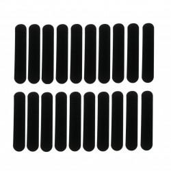 Set 20 Bucati, plic de protectie pentru stylus sau pix, textura catifelata, negru