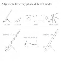 Suport de birou pentru tablete si telefoane, unghi reglabil