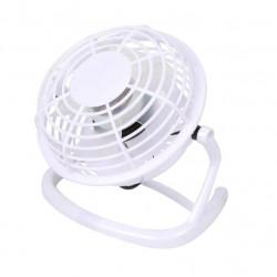 Ventilator pentru birou, alimentare cu USB, diametru 13 cm, plastic, Alb