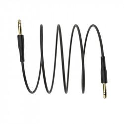 Cablu auxiliar, audio stereo, Jack 3.5 mm, 3 pini, Negru