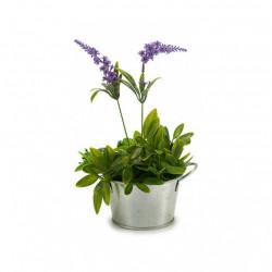 Ghiveci pentru flori, manere metalice, rotund, diametru 12 cm, Argintiu