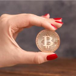 Moneda Suvenir Bitcoin Copper COIN