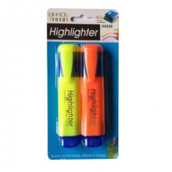 Set 2 bucati, Evidentiator pentru documente, fluorescent, Multicolor