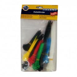 Set 450 bucati Soricei, Coliere din plastic pentru electronica fina, Filmer, 3 dimensiuni, Multicolor