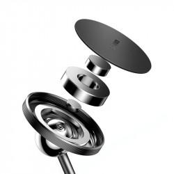 Suport auto magnetic Baseus, autoadeziv, cu picior, negru