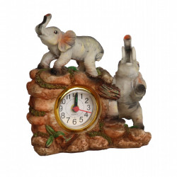 Ceas de Masa, model cu Elefanti, analogic, h 12.5cm